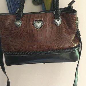 Leather silver lake purse.